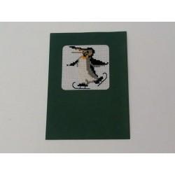 Carte de Noël pinguin